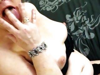 Crazy Brit Housewife Masturbating