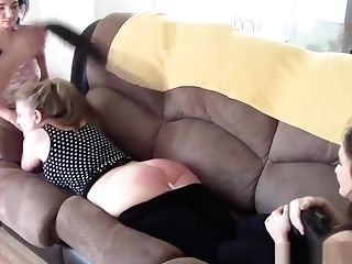 Stepsisters And Mummy Spanked
