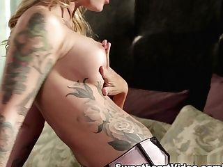 Fabulous Pornographic Stars Dana Vespoli, Nina Elle, Kimberly Kane In Horny Stockings, Sapphic Adult Movie