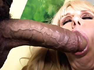 Chesty Cougar Karen Fisher Fucks Big Black Cock