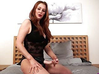 Mouth Watering Crimson Head Lucy Alexandra Puts On Belt Cock