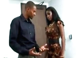 Hot Black Cougar Fucks In The Office