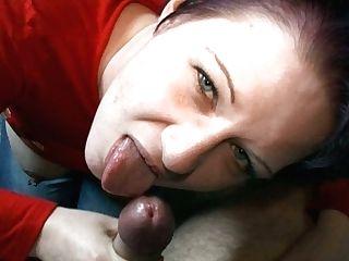 Lustful Chick Sarah Licks Her Friend's Dick Like It Is A Lollipop