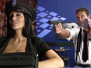 Buxom Police Officer Ava Addams Longing For Hard Stick