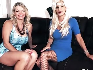 Vicky Vette & Brittany Andrews Oral Theesome