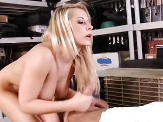 Big-tittied Blonde Horny Chief